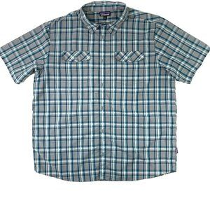 Patagonia Worn Wear Mens Plaid Short Sleeve Shirt